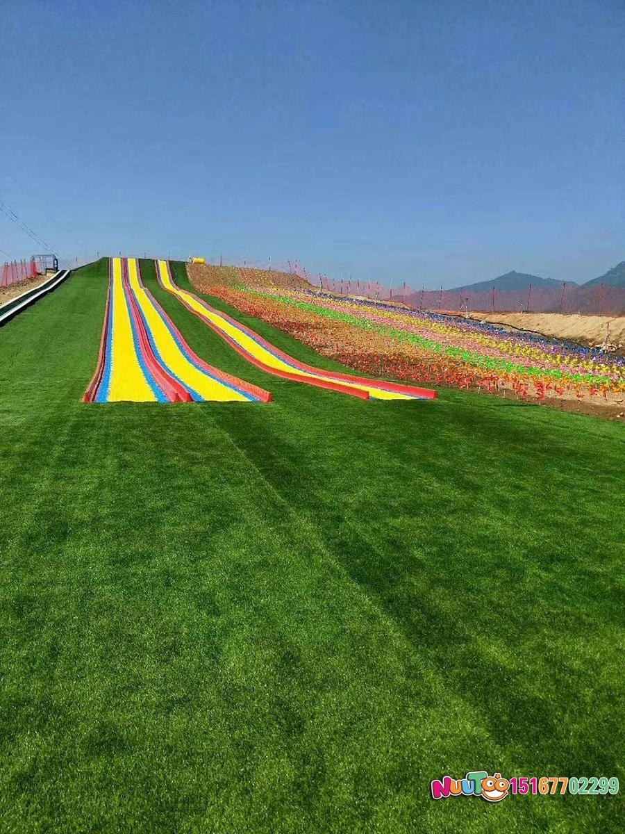 Colorful slides + colorful slides + dry snow slide + leap slide - (39)