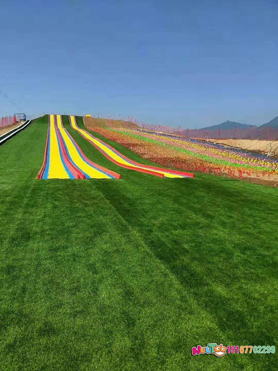 Colorful slides + colorful slides + dry snow slide + leap slide - (31)