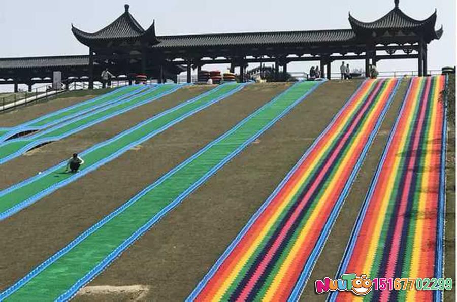 Colorful slides + colorful slides + dry snow slide + leap slide - (16)